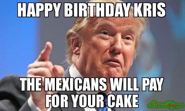 Happy Birthday Kris Stay Classy Ron Burgundy Meme Generator